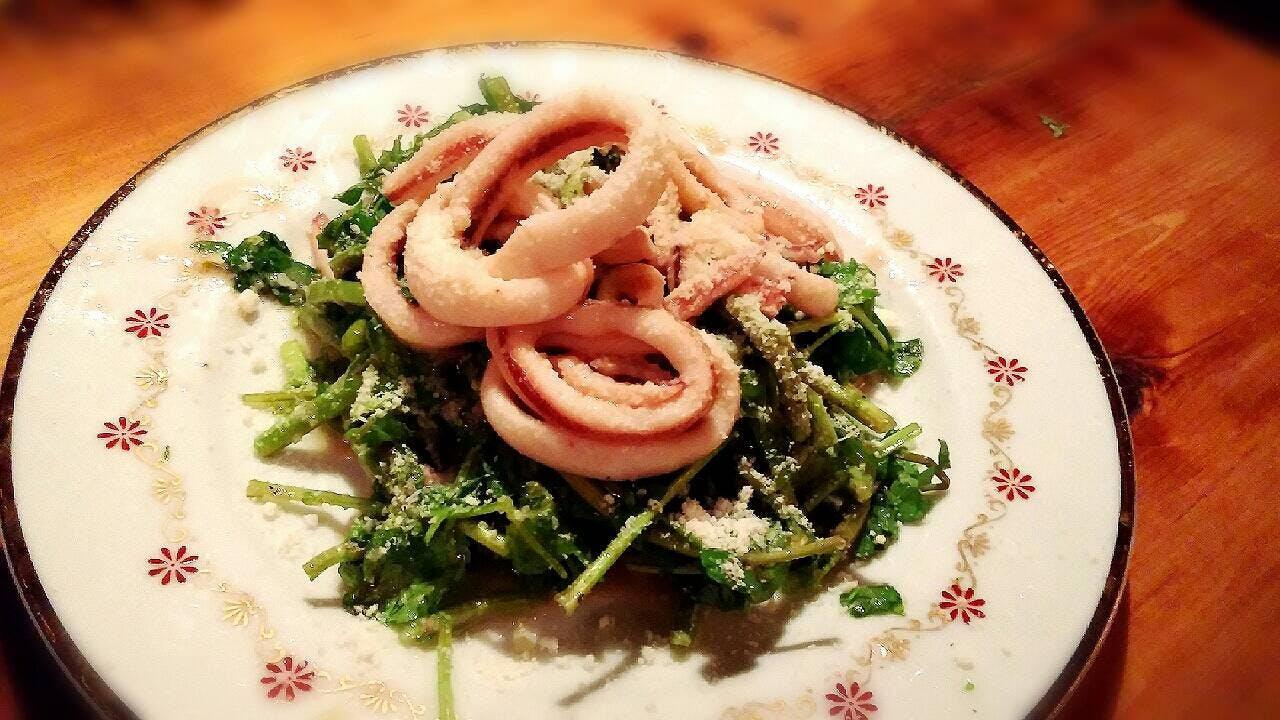 coco-bana* イカと春菊のホットサラダ