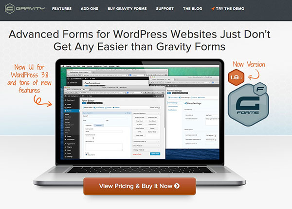 Gravity Forms is one of the most powerful contact form plugins available