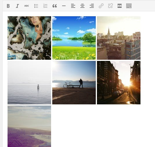 gallery in post editor