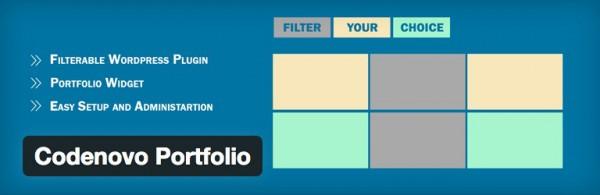 The codenovo portfolio plugin header