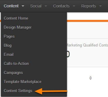 hubspot-content-setting