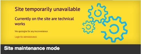Site maintenance mode plugin thumbnail