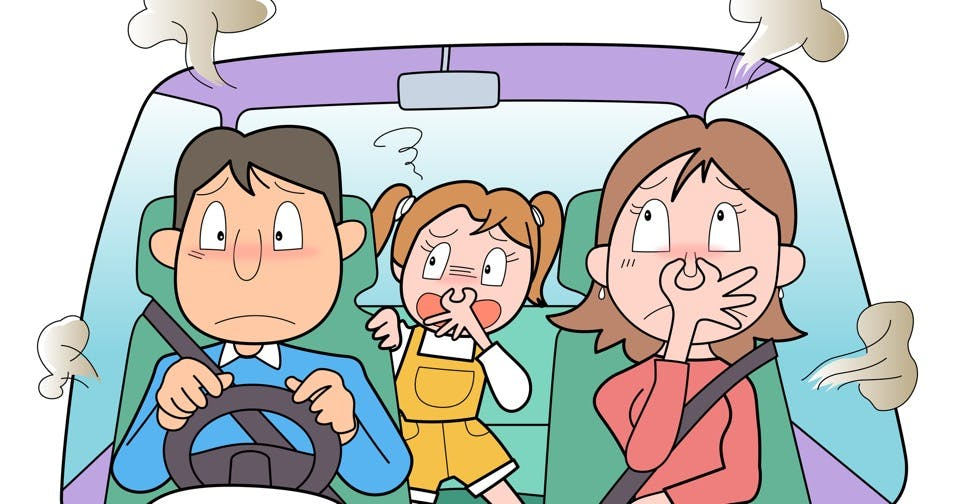 車内にこもっているイヤ~なニオイ。どうやったら消し去れる?